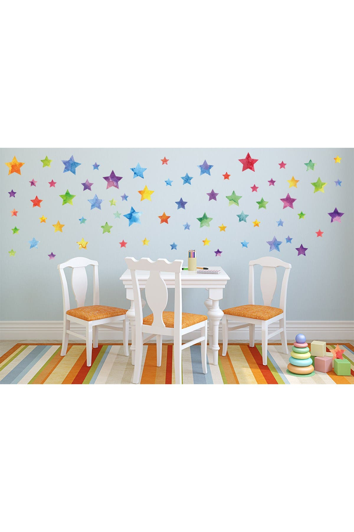 Image of WalPlus Watercolour Stars Decal