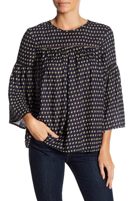 Image of French Connection 3/4 Sleeve Print Blouse
