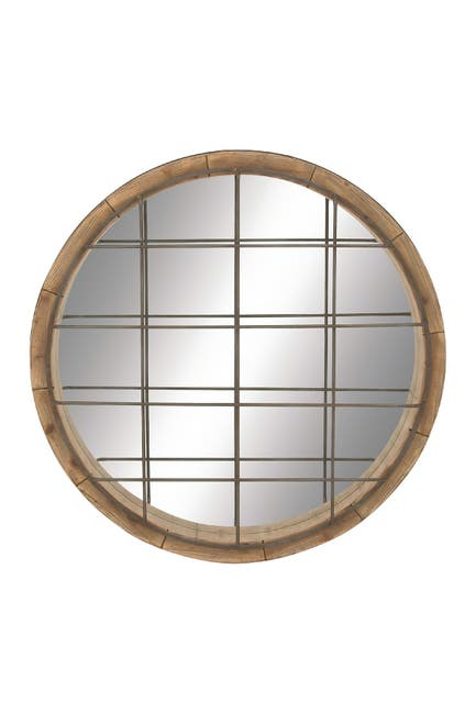 Image of Willow Row Multi Farmhouse Wooden Framed Wall Mirror