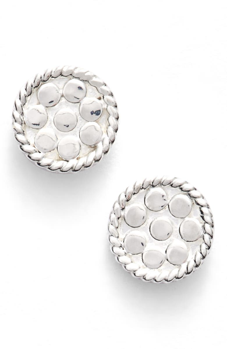 ANNA BECK Mini Disc Stud Earrings, Main, color, SILVER