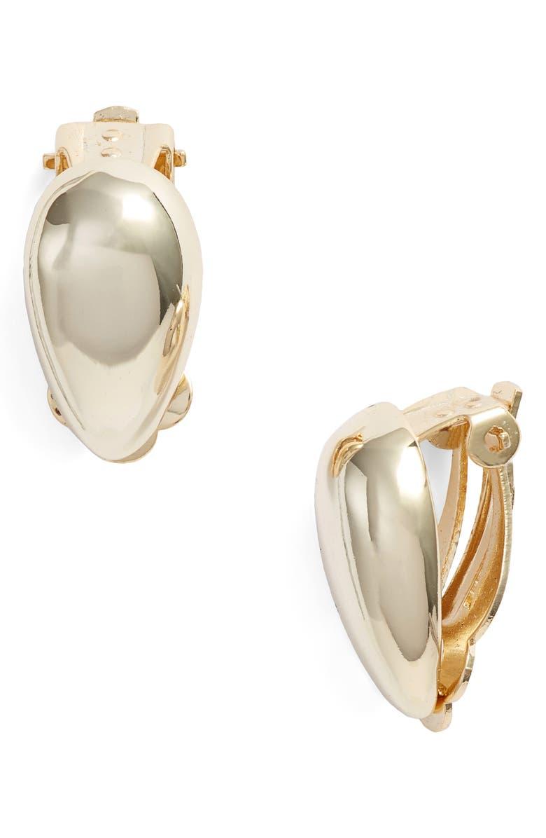 ARGENTO VIVO STERLING SILVER Argento Vivo Teardrop Earrings, Main, color, GOLD