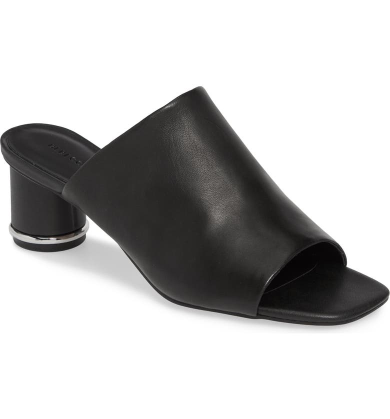 REBECCA MINKOFF Aceline Slide Sandal, Main, color, BLACK LEATHER