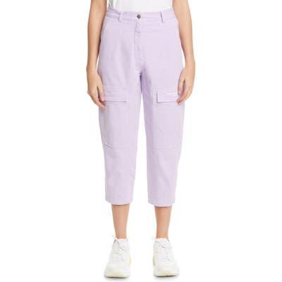 Stella Mccartney 2001 Logo Crop Wide Leg Cargo Pants, 4 IT - Purple