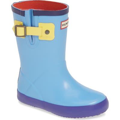 Toddler Hunter Buckle Strap Waterproof Rain Boot, Blue