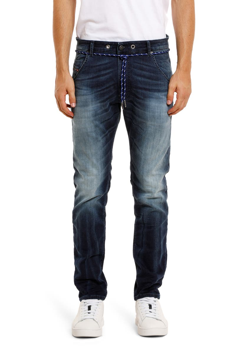 DIESEL<SUP>®</SUP> Krooley Jogg Slouchy Slim Straight Jeans, Main, color, 400