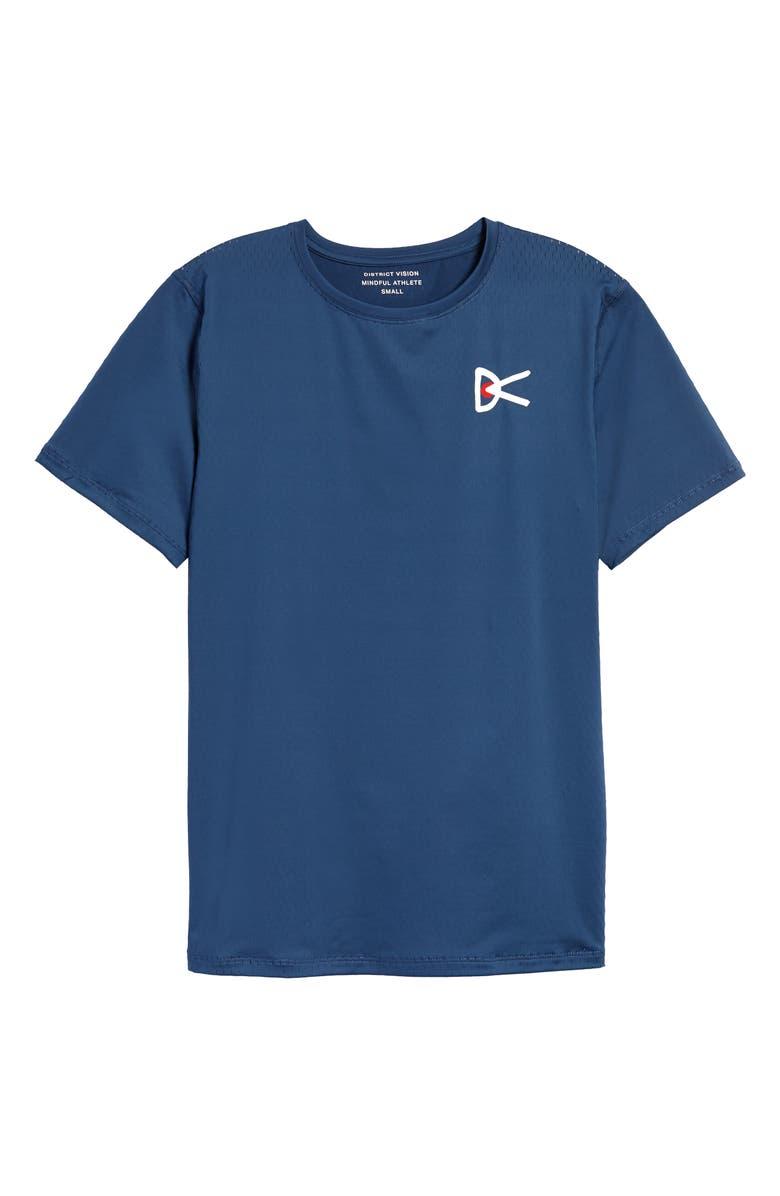 DISTRICT VISION Air–Wear Logo Graphic Tee, Main, color, BLUE