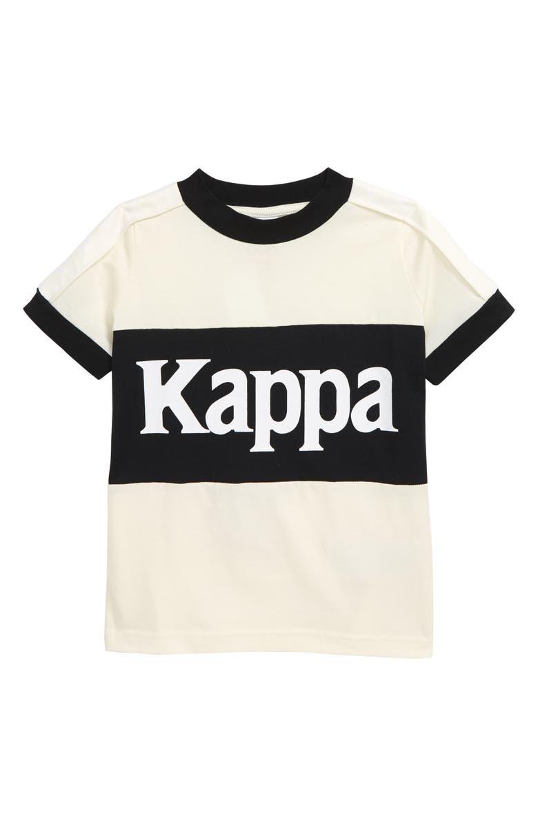 KAPPA 222 Banda Bertux Graphic Tee, Main, color, WHITE ANTIQUE-BLACK