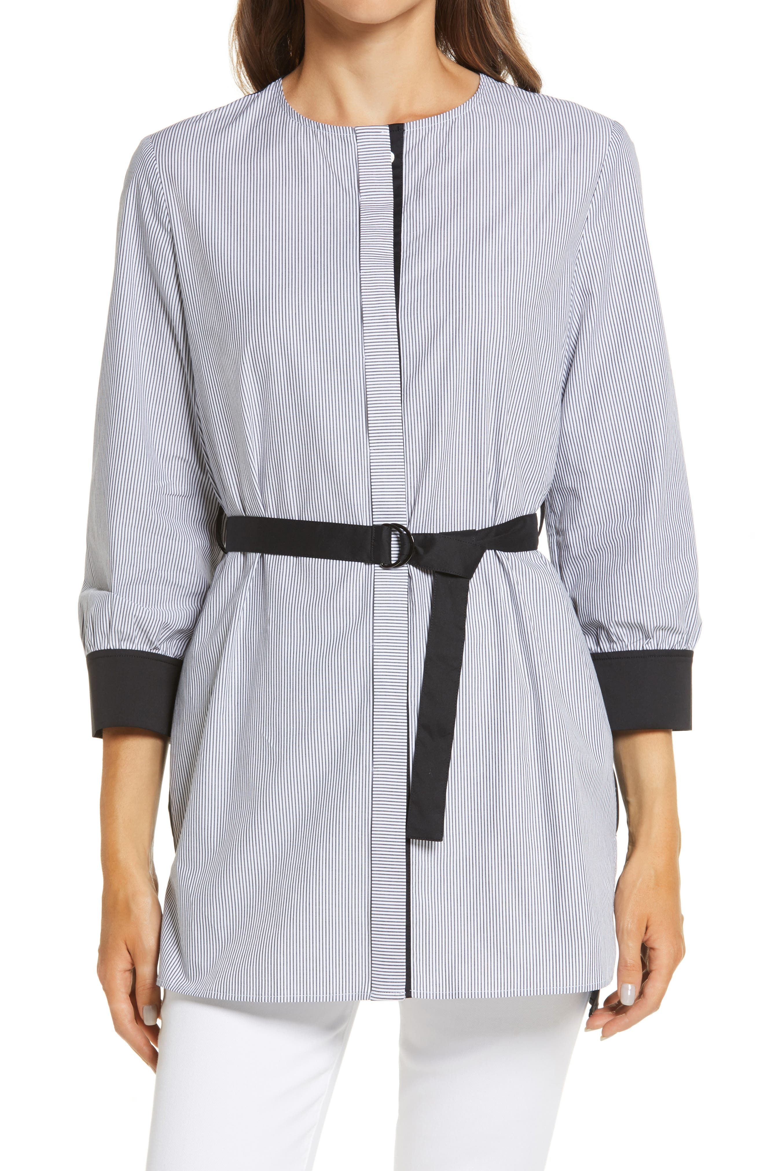 Ming Wang Belted Blouse | Nordstrom