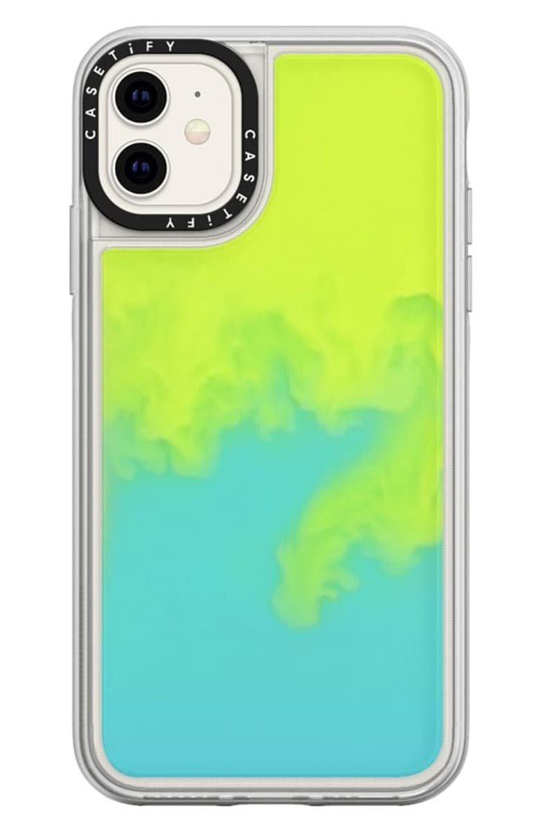 CASETIFY Neon Sand iPhone 11/11 Pro Case, Main, color, GREEN / YELLOW