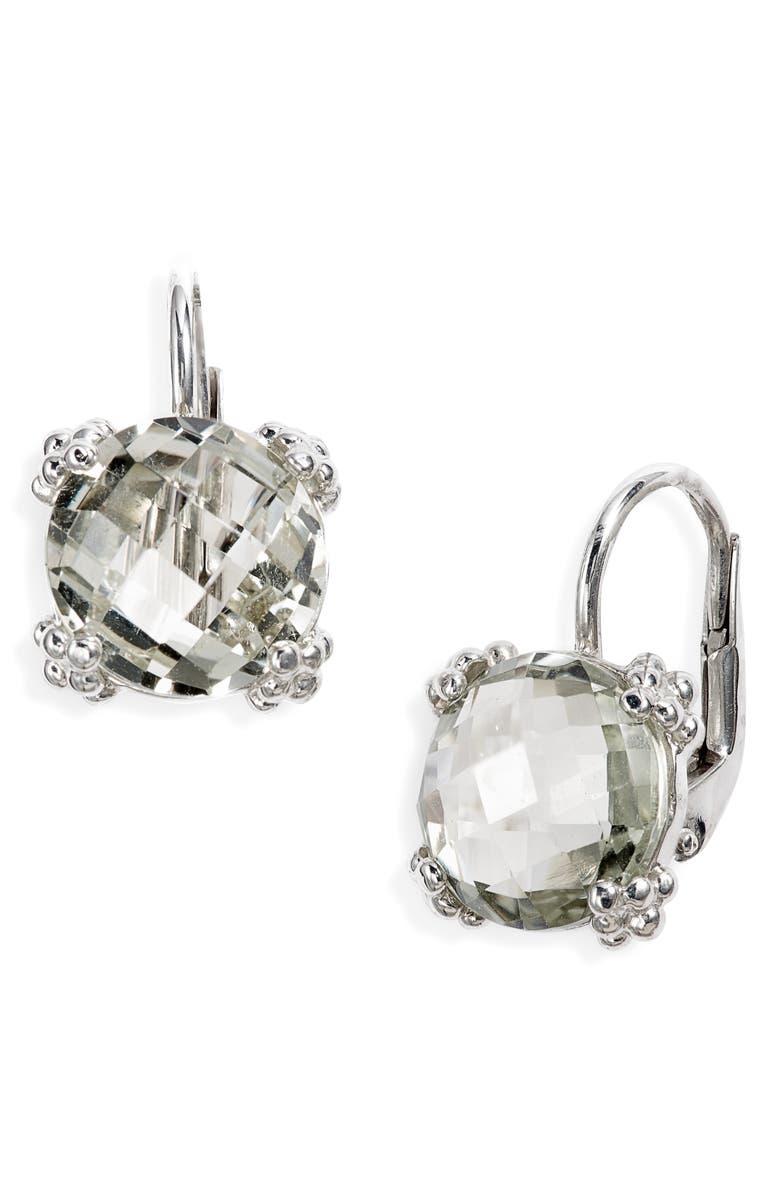 ANZIE Dew Drop Topaz Drop Earrings, Main, color, GREEN AMETHYST