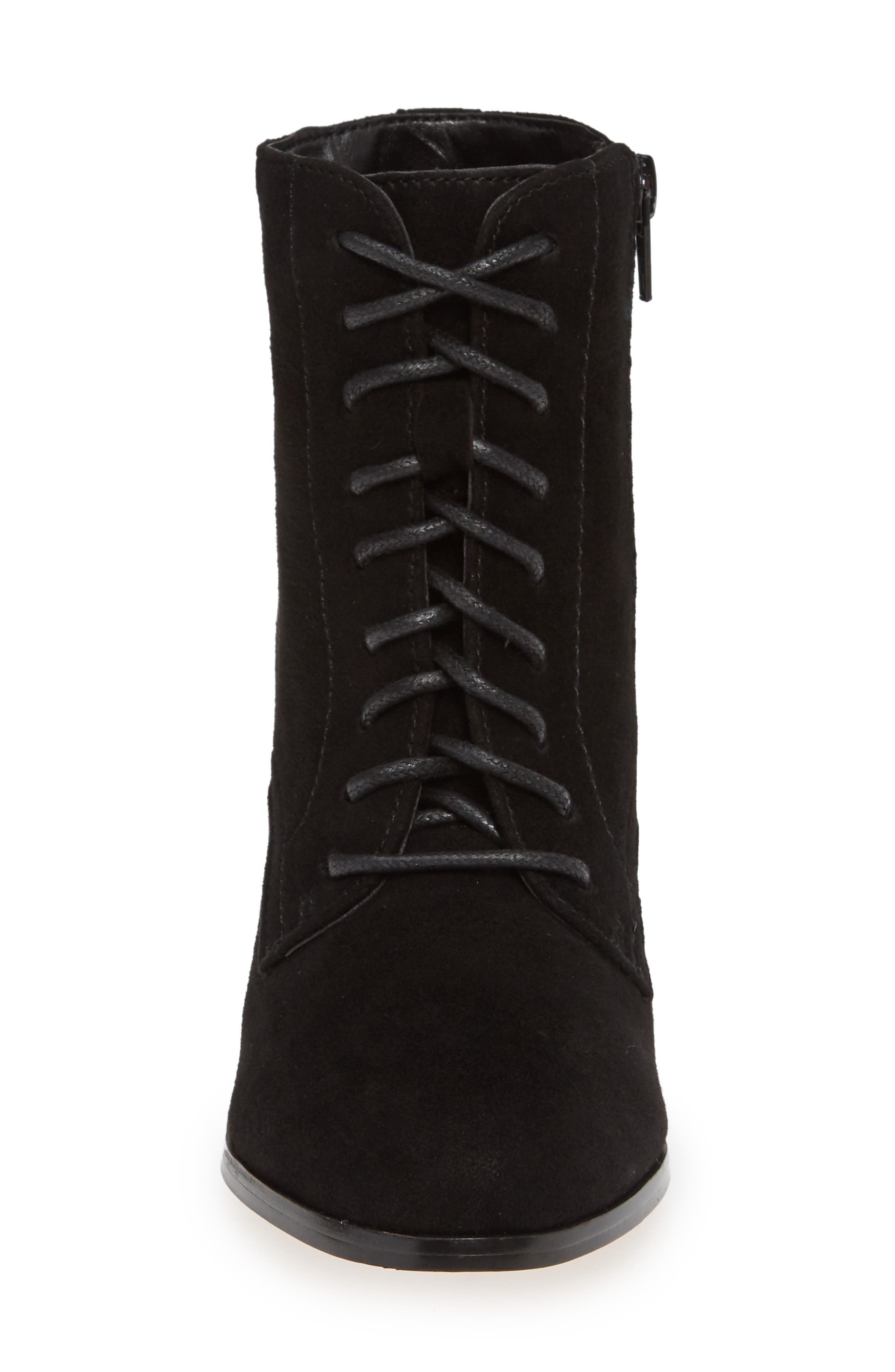 ,                             Smith Lace-Up Bootie,                             Alternate thumbnail 4, color,                             BLACK SUEDE