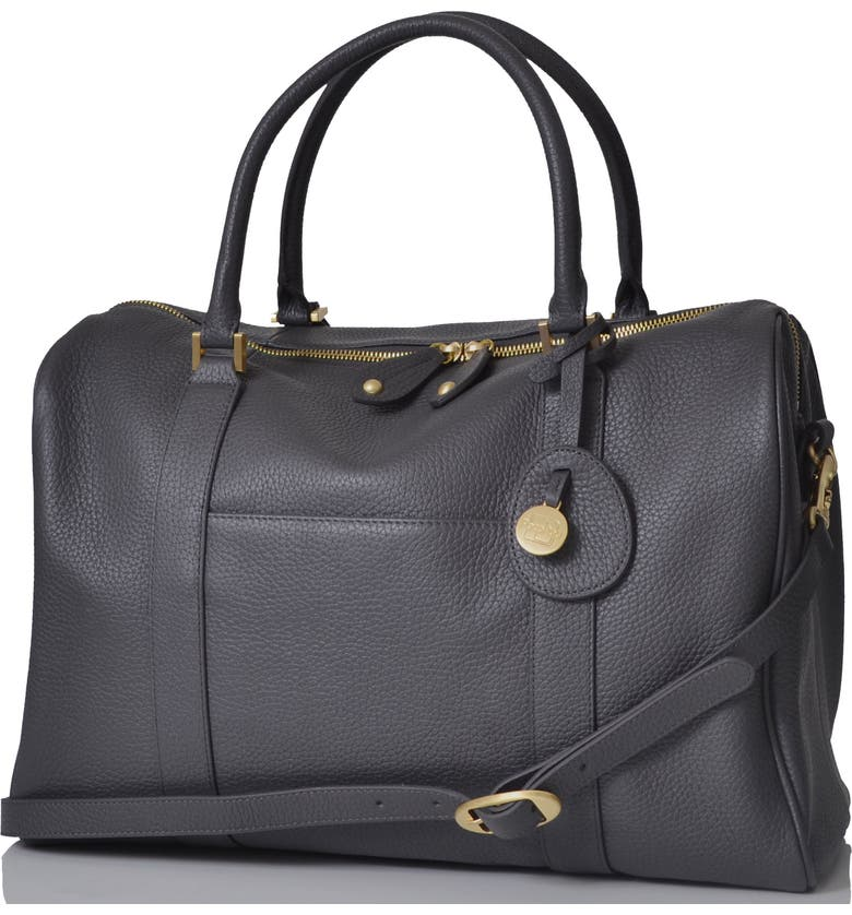 PACAPOD 'Firenze' Leather Diaper Bag, Main, color, PEWTER