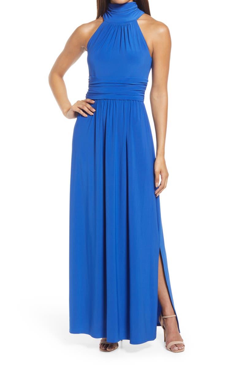 ELIZA J High Neck Maxi Dress, Main, color, 430