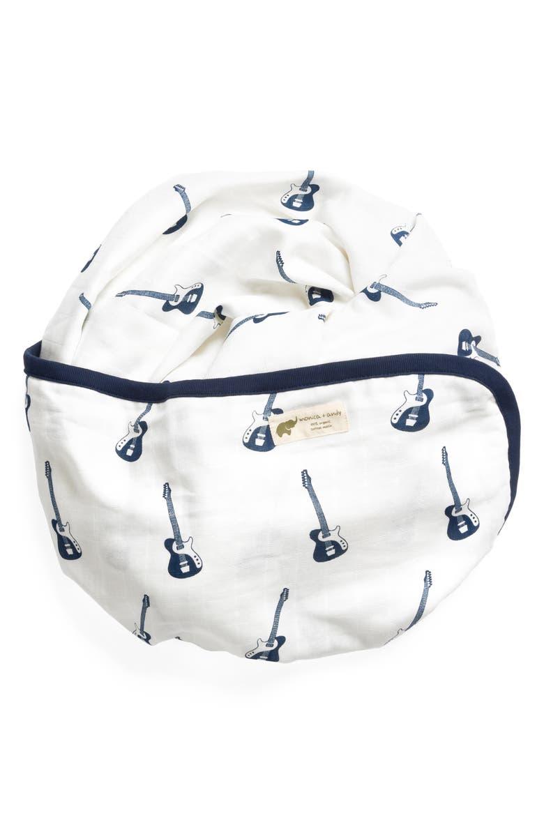 MONICA + ANDY Always Luxury Organic Cotton Muslin Blanket, Main, color, 406