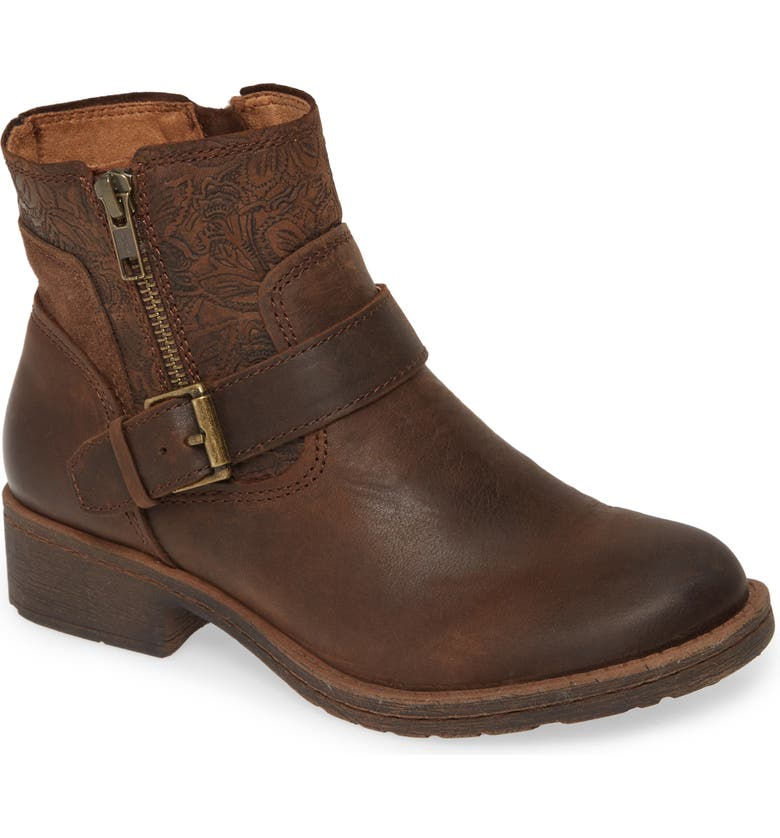 COMFORTIVA Sterns Bootie, Main, color, COCOA BROWN LEATHER