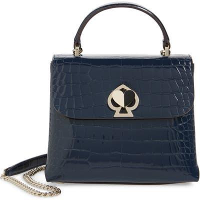 Kate Spade New York Romy Croc-Embossed Leather Top Handle Bag - Blue