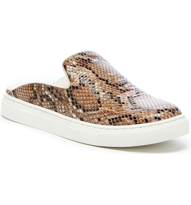 SOLE SOCIETY Belynda Mule Sneaker, Main, color, BROWN NAPPA LEATHER