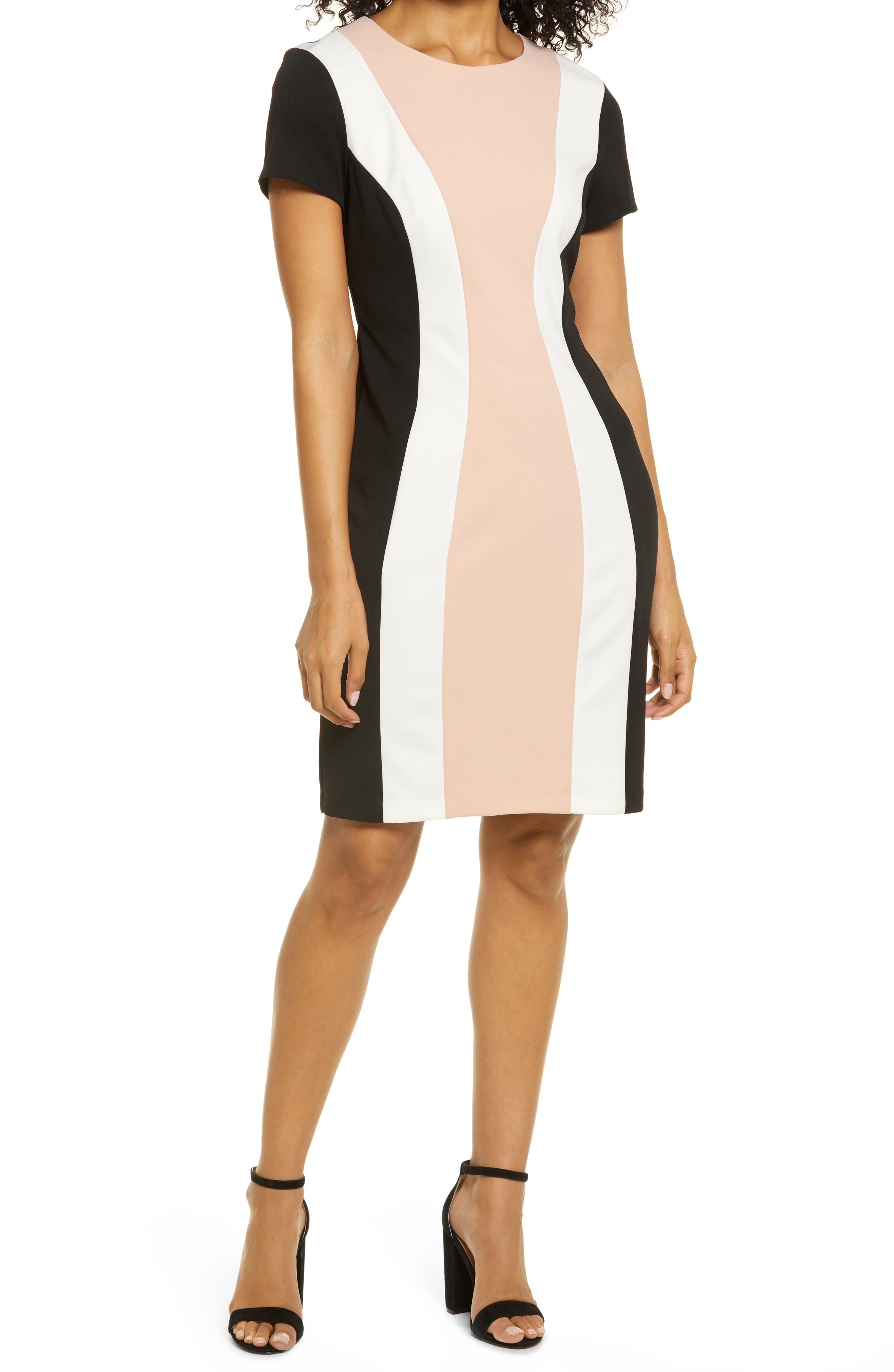Colorblock Short Sleeve Dress