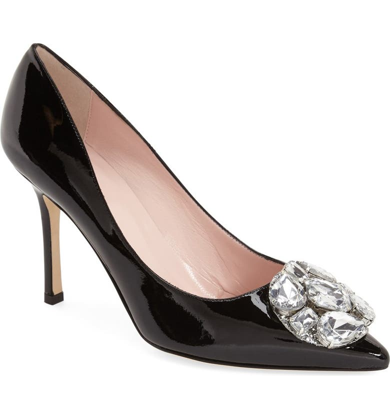 KATE SPADE NEW YORK 'philie' pointy toe pump, Main, color, 001