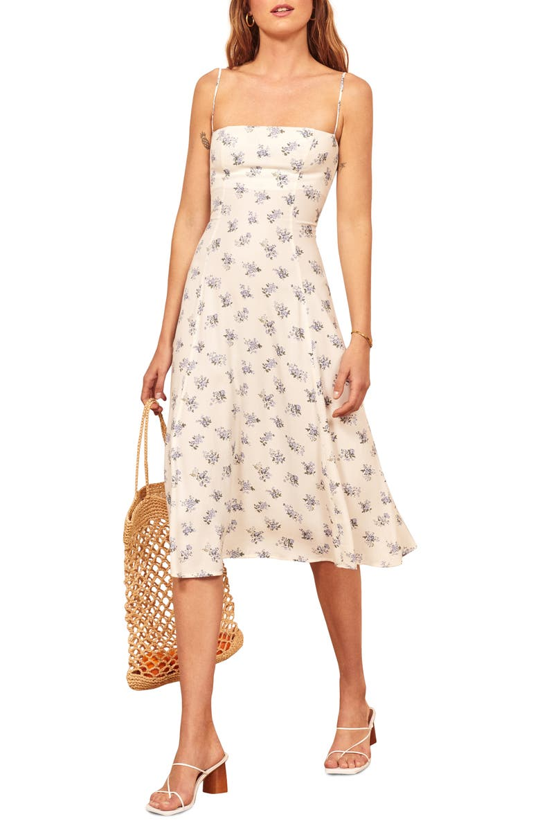 REFORMATION Vollare Print Sundress, Main, color, 100