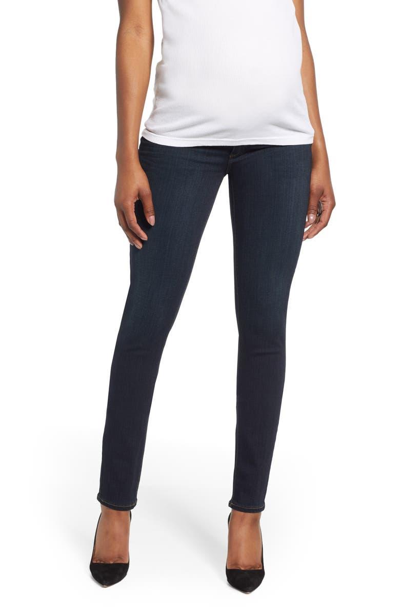 PAIGE Transcend - Skyline Skinny Maternity Jeans, Main, color, MONA