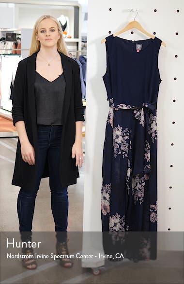 Floral Print Sleeveless Chiffon Jumpsuit, sales video thumbnail