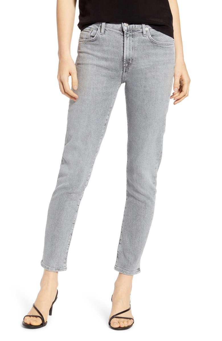 AGOLDE Toni High Waist Ankle Straight Leg Jeans, Main, color, MIRROR