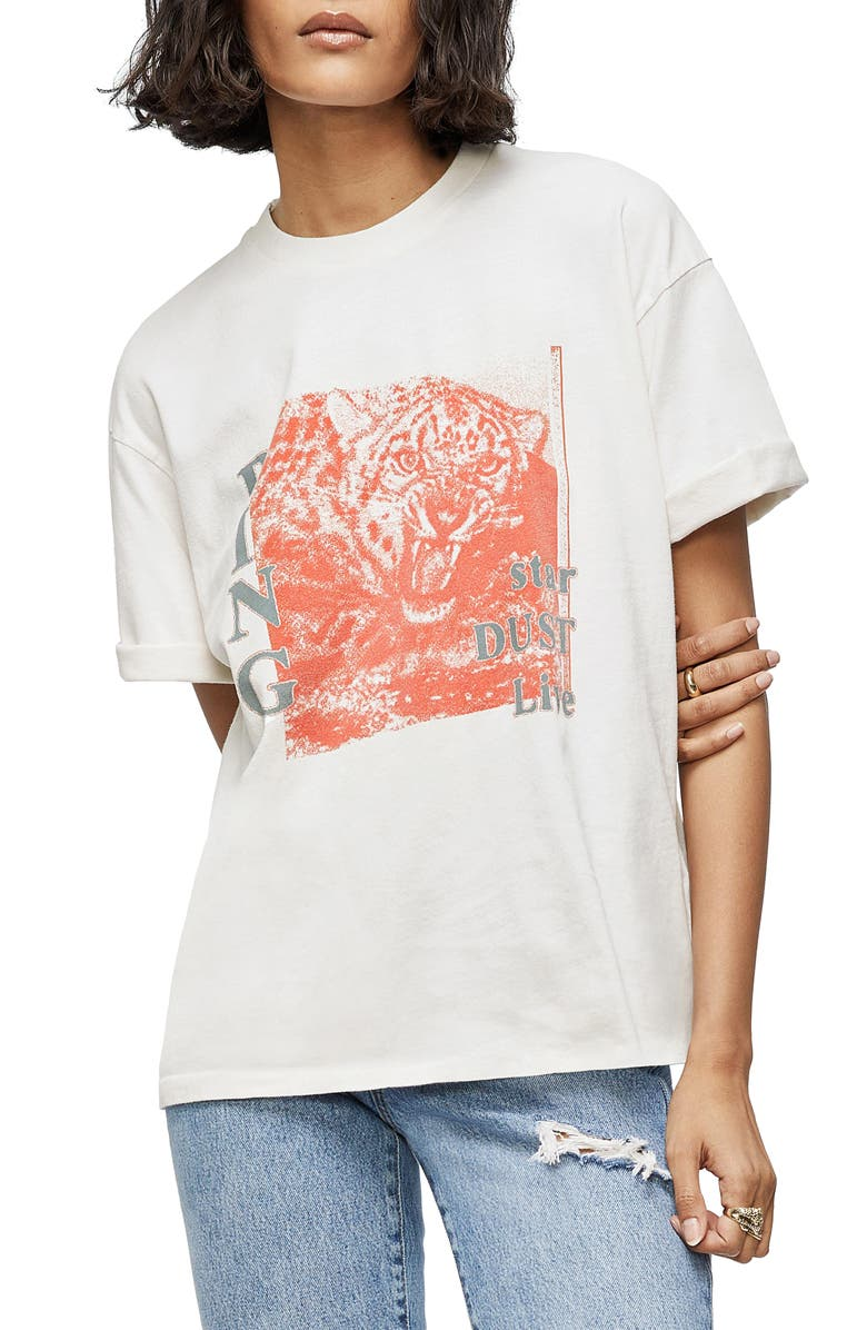 ANINE BING Georgie Graphic Tee, Main, color, PANTHER DUST
