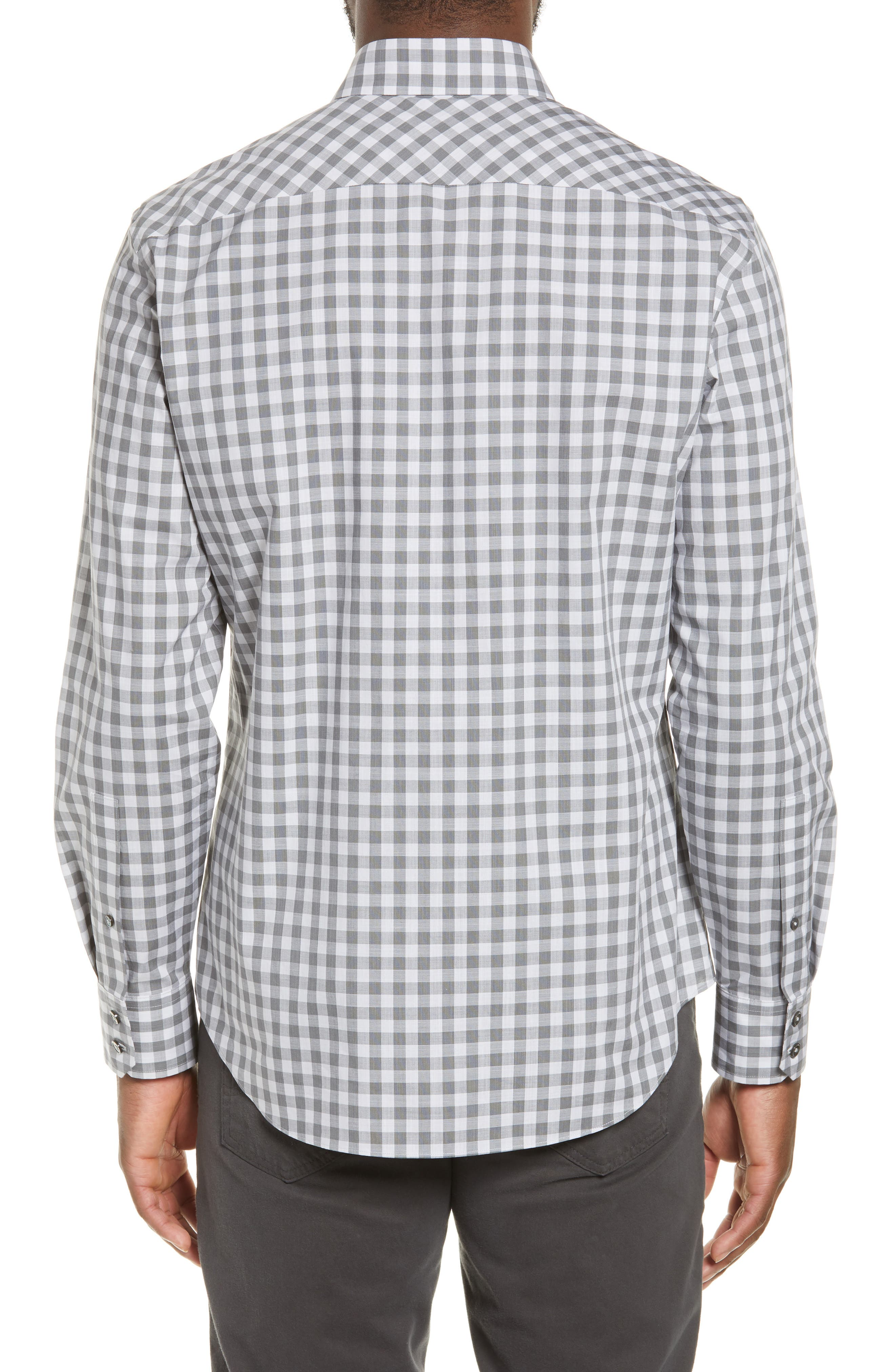 ,                             Schwantes Regular Fit Check Sport Shirt,                             Alternate thumbnail 3, color,                             GREY