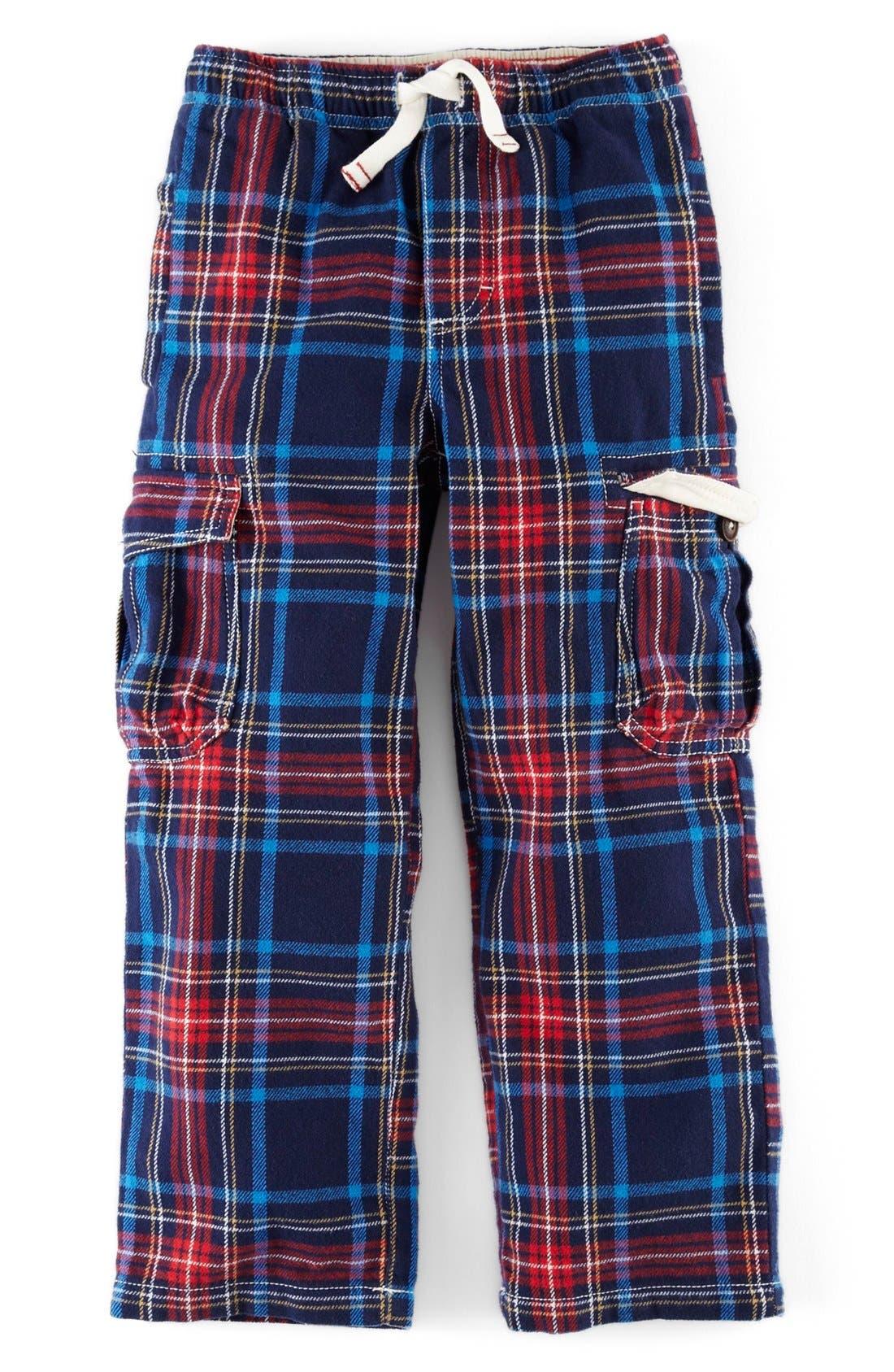 ,                             Brushed Tartan Cargo Pants,                             Main thumbnail 4, color,                             414