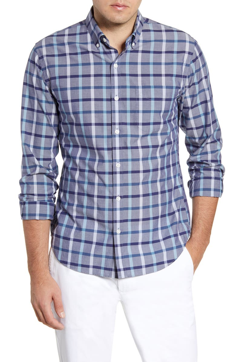 Summer Weight Slim Fit Check Sport Shirt by Bonobos