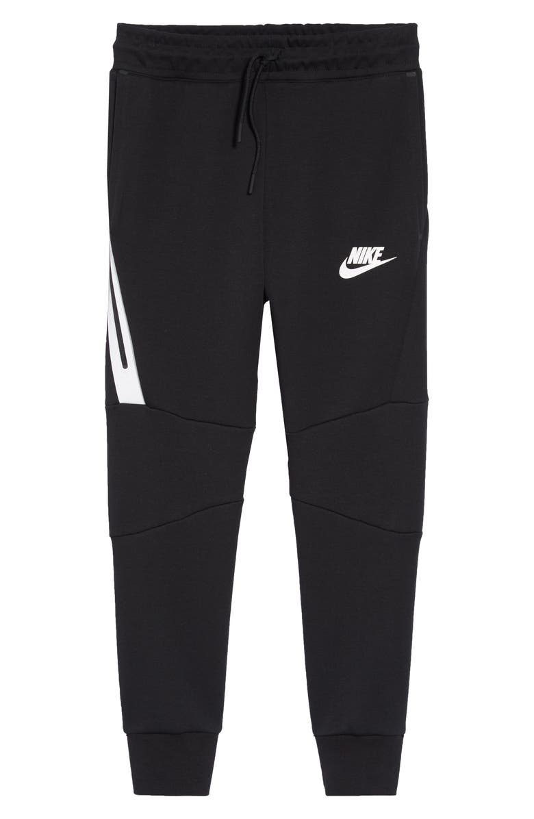 NIKE Tech Fleece Pants, Main, color, BLACK/ WHITE