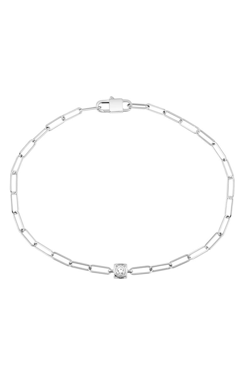 DINH VAN Le Cube Diamant 18K Gold Chain Bracelet, Main, color, WHITE GOLD
