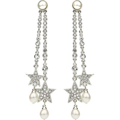 Ben-Amun Rock Star Faux Pearl & Crystal Drop Earrings