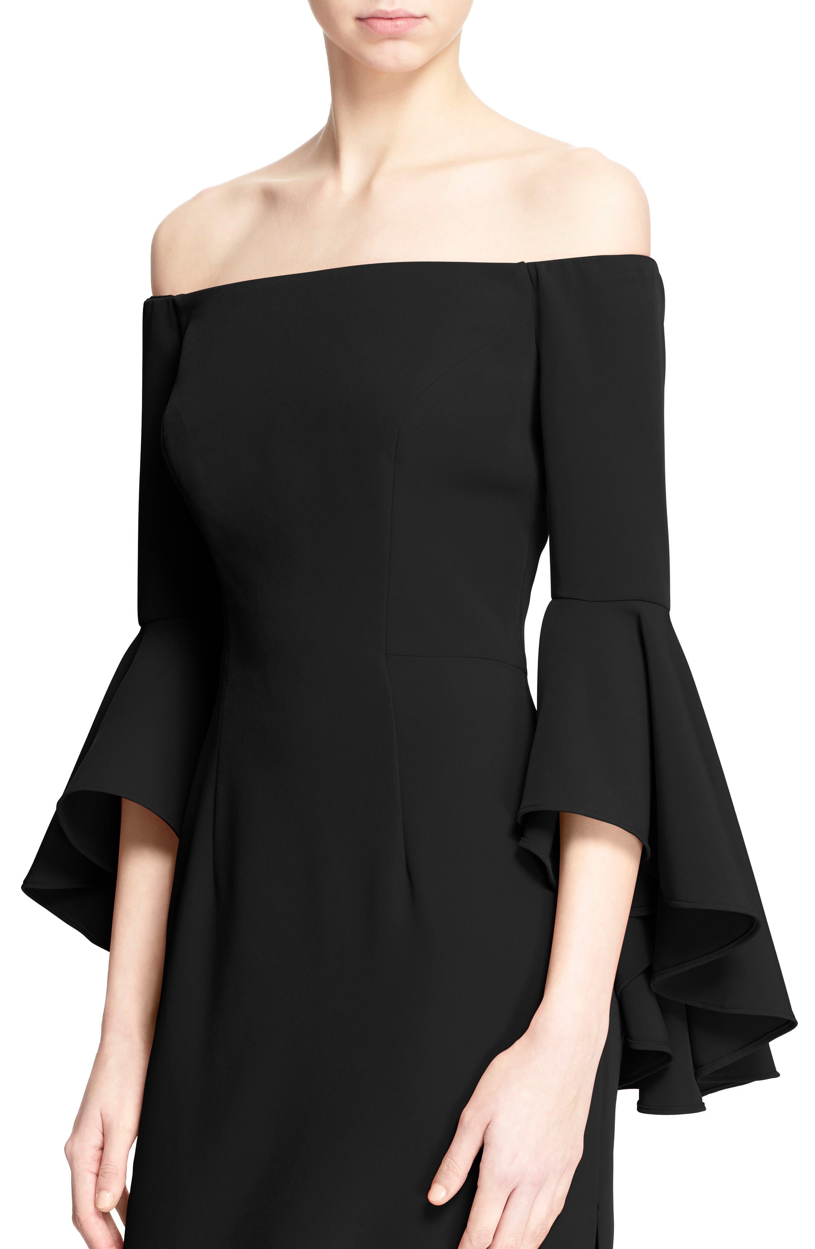 ,                             Selena Off the Shoulder Midi Dress,                             Alternate thumbnail 10, color,                             001
