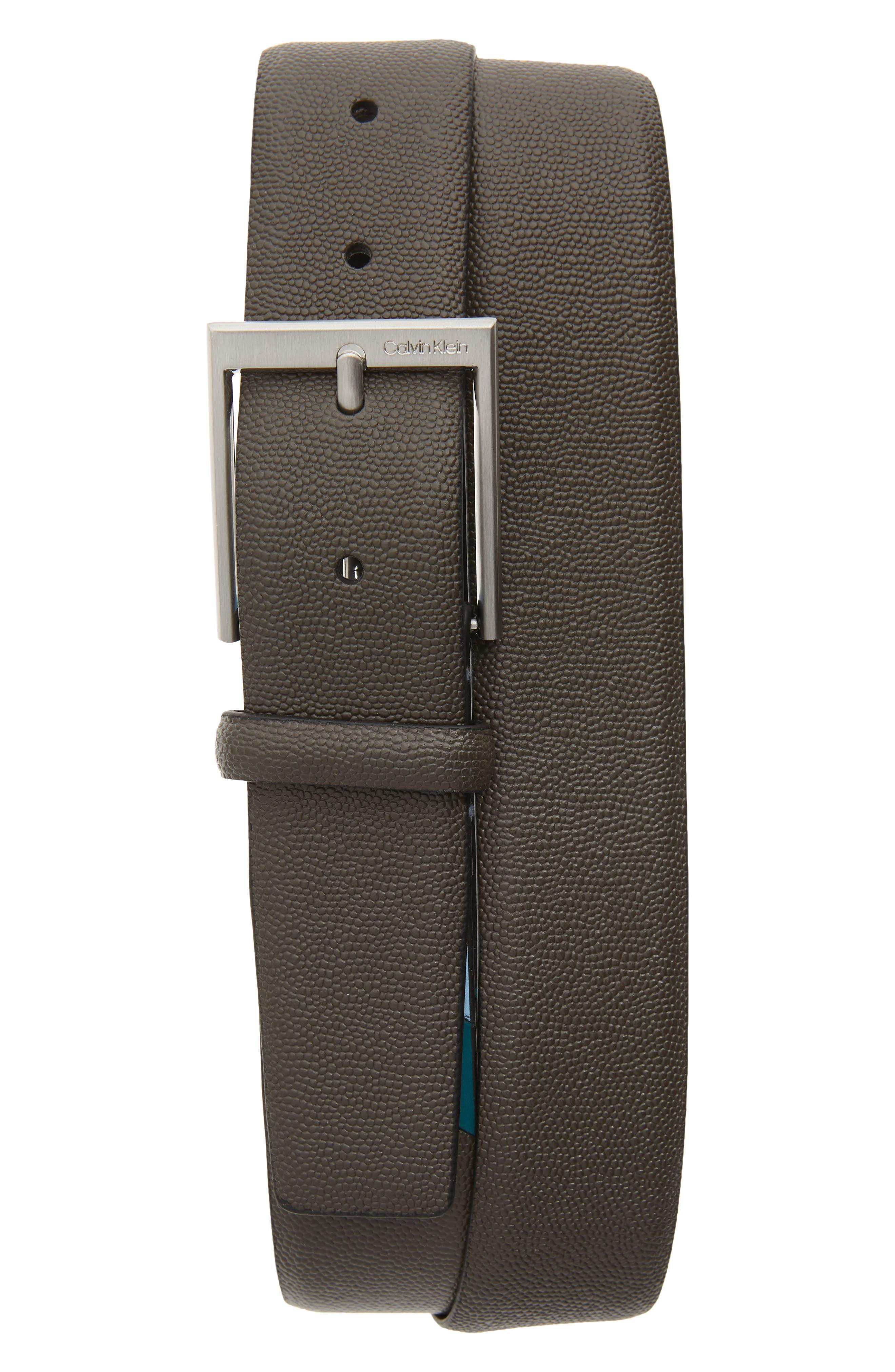 Calvin Klein Belts Pebbled Faux Leather Belt
