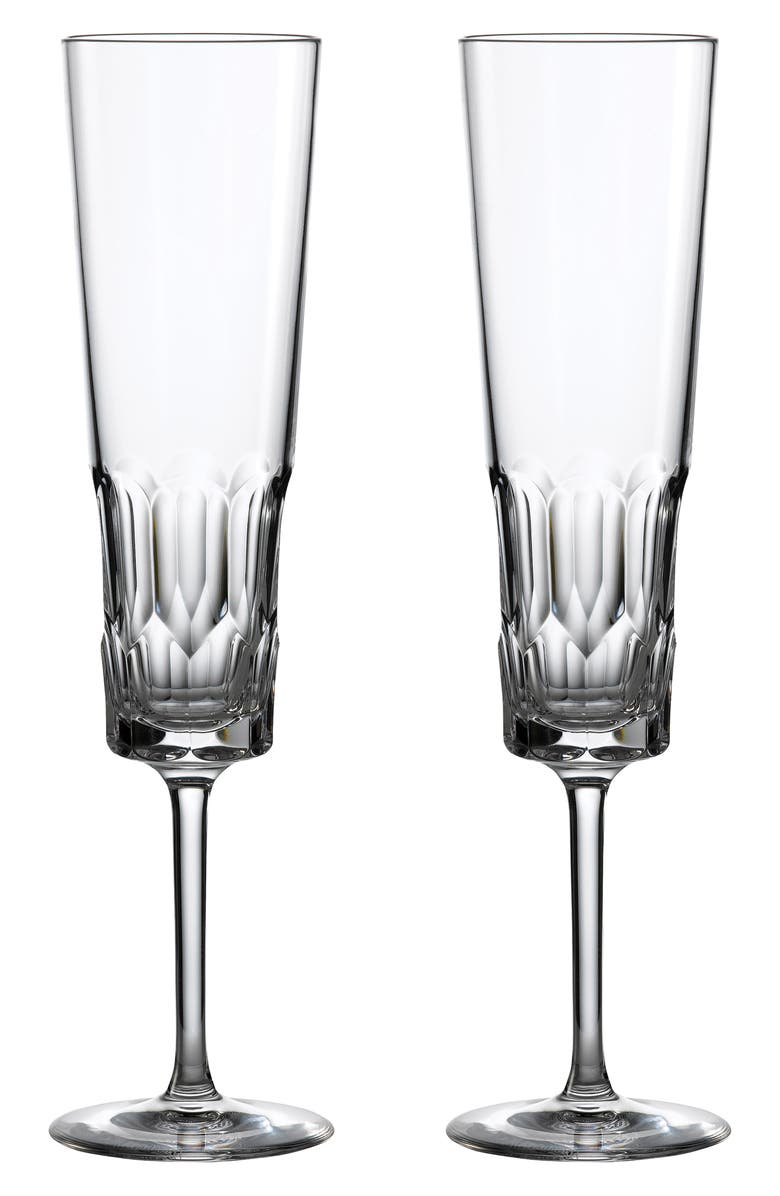 WATERFORD Jeff Leatham Icon Set of 2 Lead Crystal Flutes, Main, color, 100