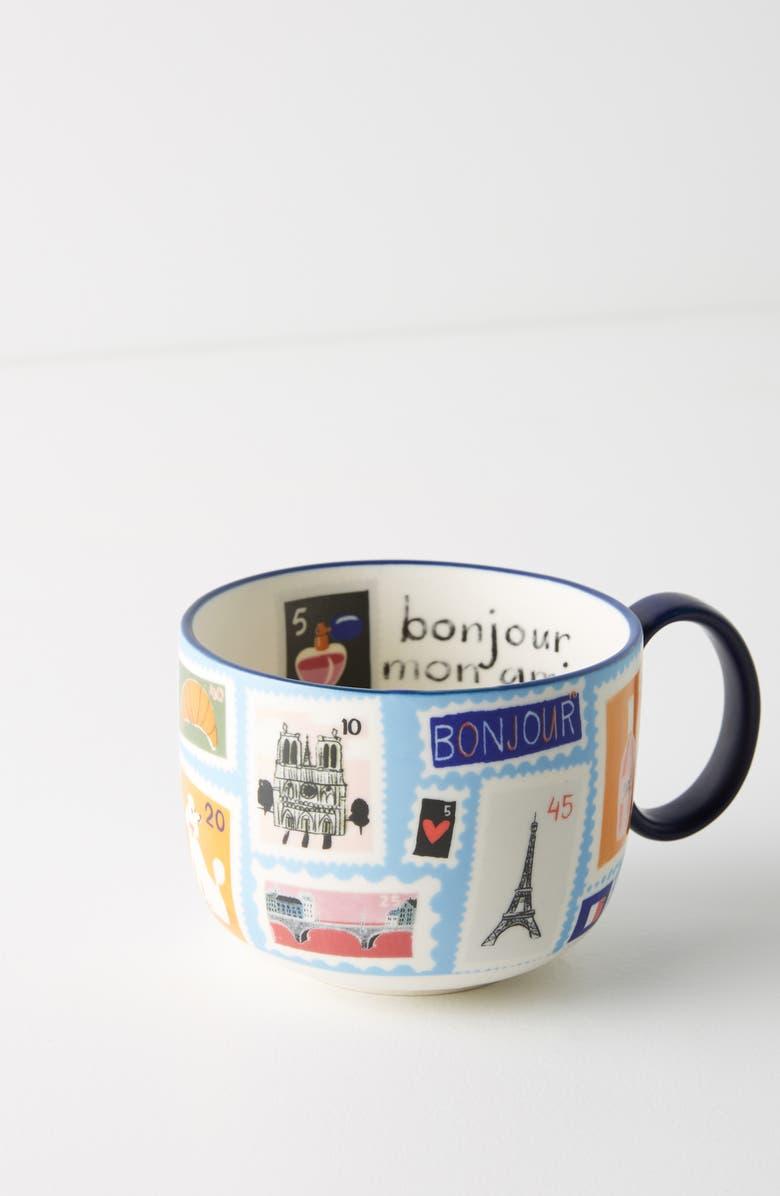 ANTHROPOLOGIE Paris City Travel Stoneware Mug, Main, color, 400