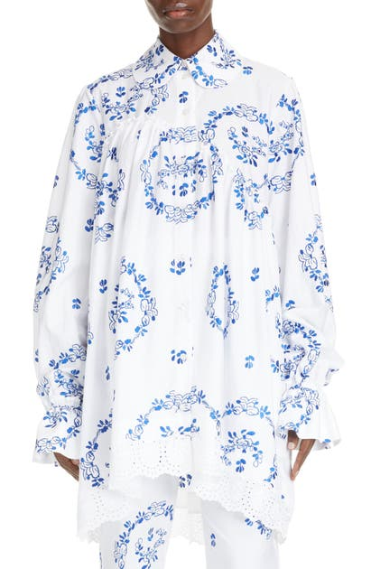 Simone Rocha Denims DELFT EMBROIDERED SHIRT
