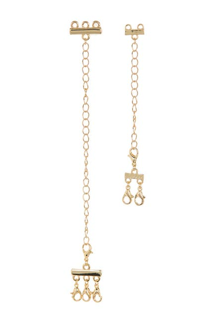 Image of Panacea Gold Plated Multi Chain Clasp Extender 2-Piece Set