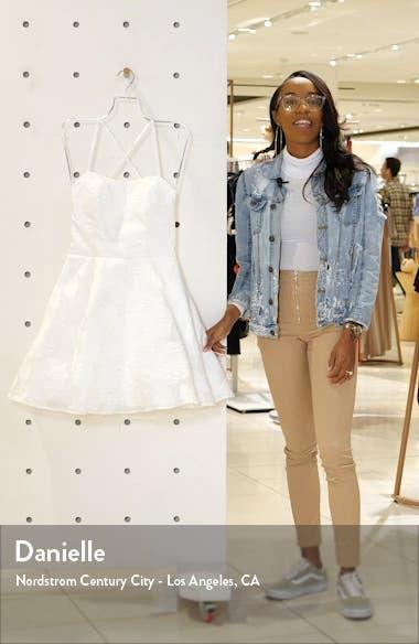 Floral Brocade Strappy Minidress, sales video thumbnail