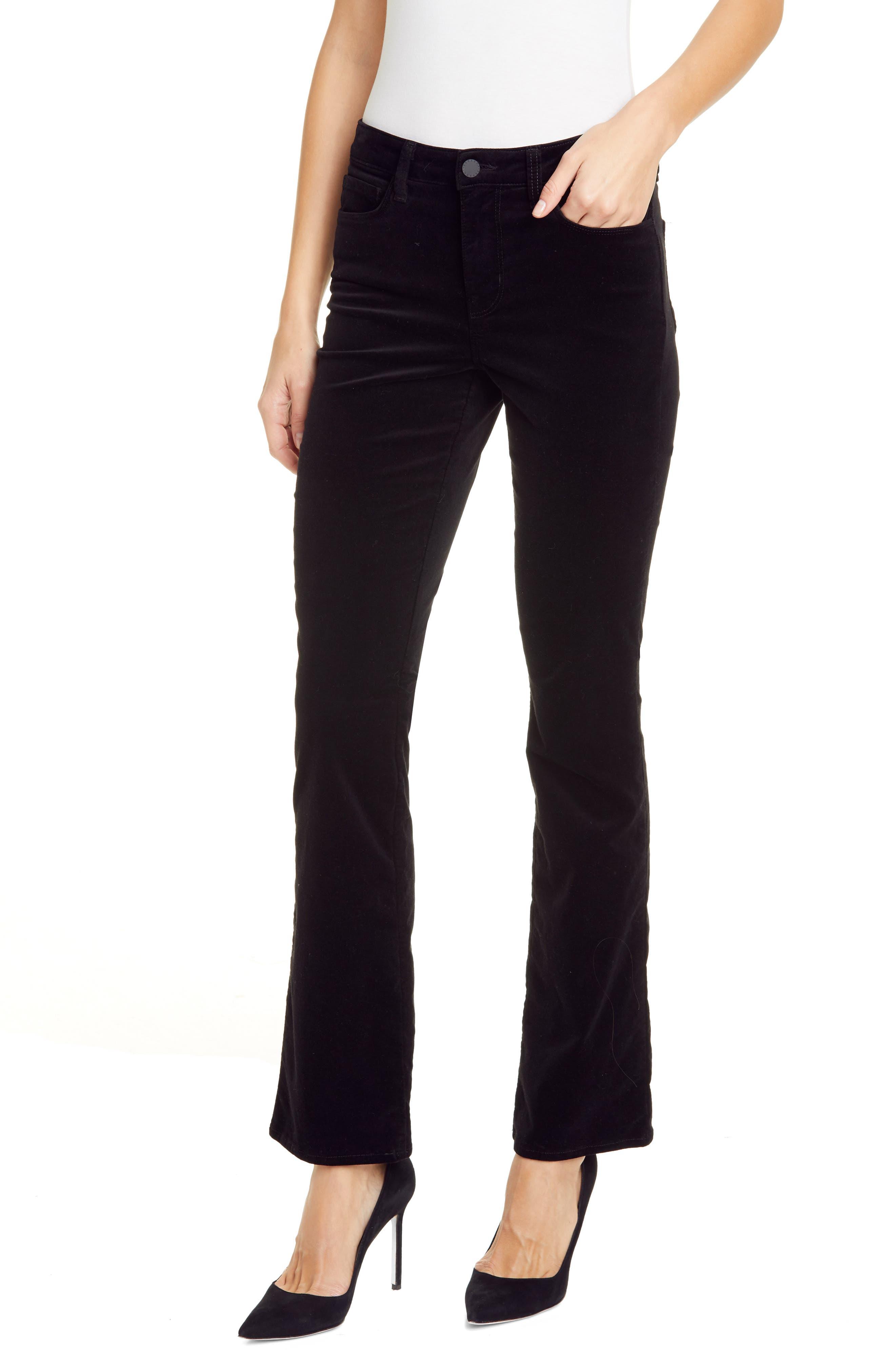 Women's L'Agence Oriana High Waist Straight Leg Velveteen Jeans