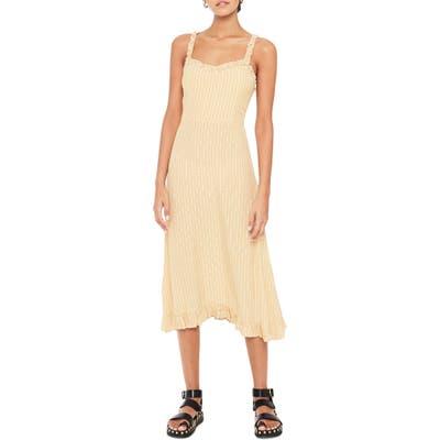 Faithfull The Brand Noemie Check Midi Dress, Beige
