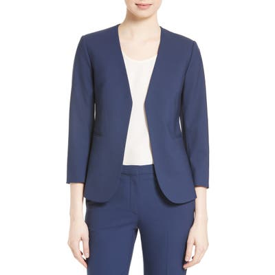 Theory Lindrayia B Good Wool Suit Jacket, Blue (Nordstrom Exclusive)