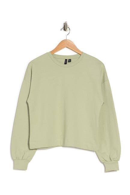 Image of VERO MODA Camen Dolman Crop Sweatshirt