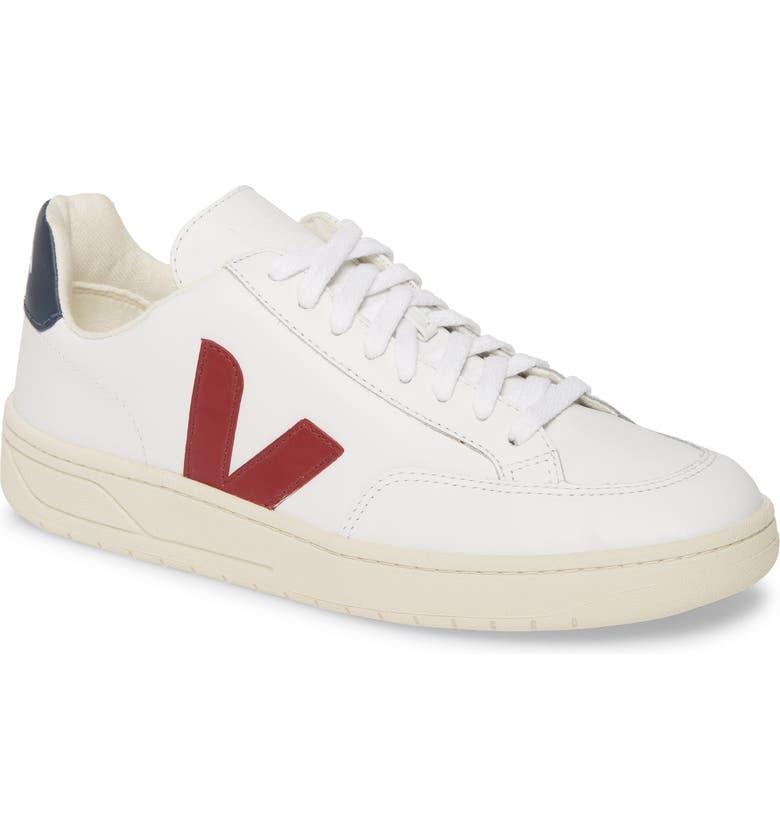 VEJA V-12 Sneaker, Main, color, WHITE/ MARSALA/ BLUE LEATHER