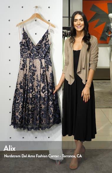 Lace Pleat Cocktail Dress, sales video thumbnail