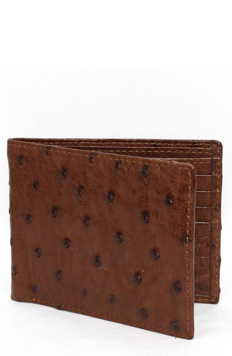 3962cca1 Genuine Ostrich Bifold Wallet