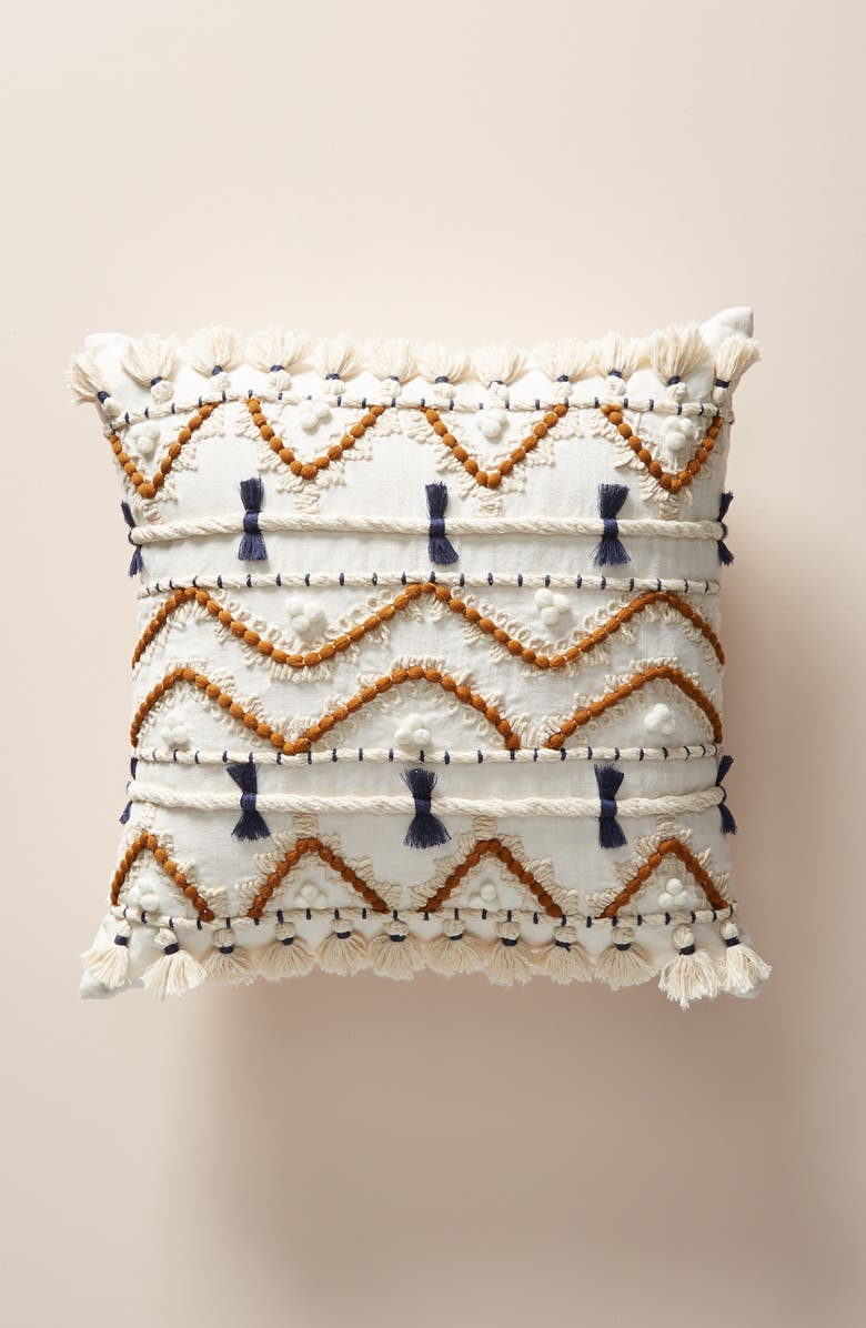 ANTHROPOLOGIE Vineet Bahl Accent Pillow, Main, color, INDIGO