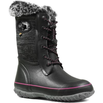 Bogs Arcata Knit Insulated Faux Fur Lined Waterproof Boot